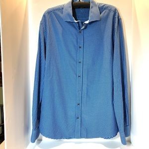 Bugatchi Mens Long Sleeve Shaped Fit Shirt 2XL EUC